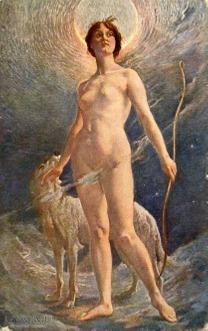 Diana - bogini - kolekcja starych pocztówek