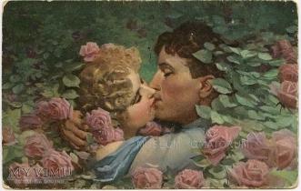 zbiór pocztówek o miłości