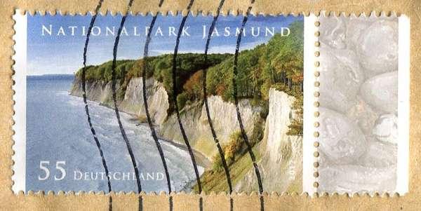 Nationalpark Jasmund Znaczek Niemcy
