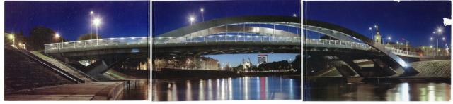Most w Wilnie  pocztówka skrzydłowa rozkładana