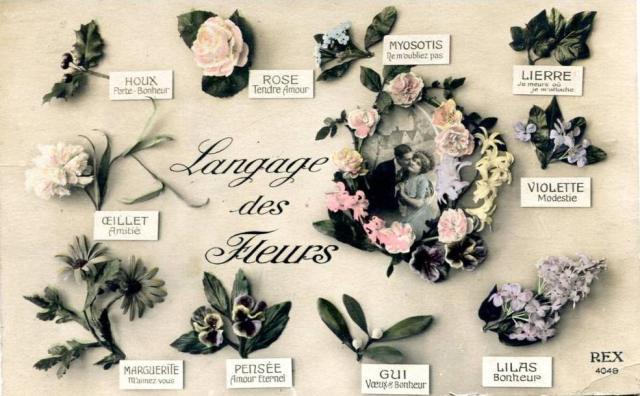 Mowa kwiatów  - pocztówka francuska ok. 1930 (fot. Riksar, delcampe.net)