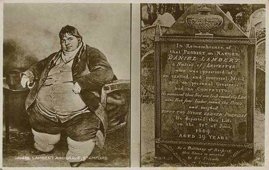 Daniel Lambert i tablica pamiątkowa, Stamford