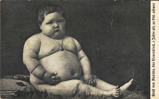 Pozdrowienia od Annitty - dziecka -  giganta, 3 lata i ponad 43  kg wagi )