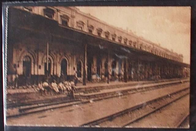 Warszaw dworzec na starej pocztówce