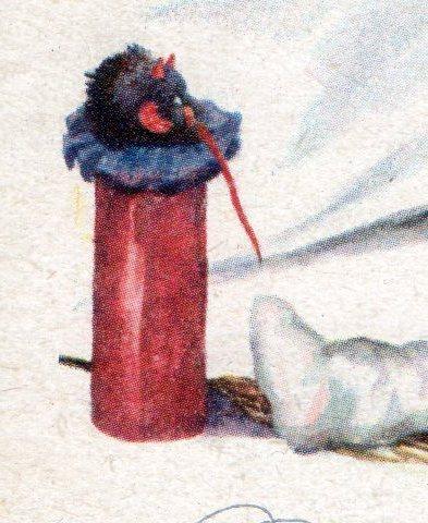 Vintage Devil Krampus postcard