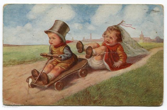 Wally Fialkowska, dzieci harcują, 1932