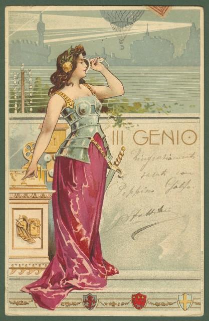 piękna karta pocztowa, artystyczna, pocztówka fot. lacasadelcollezionista.it