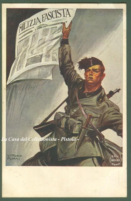 propaganda faszyzm 30 EUR, pocztówka fot. lacasadelcollezionista.it