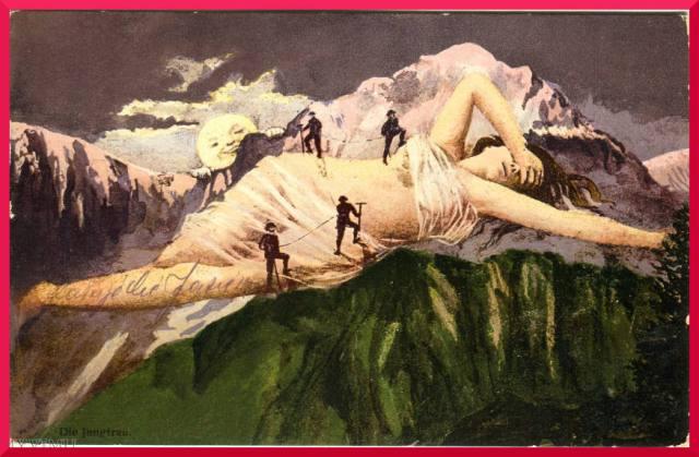 Die Jungfrau stara pocztówka, Szawjcaria