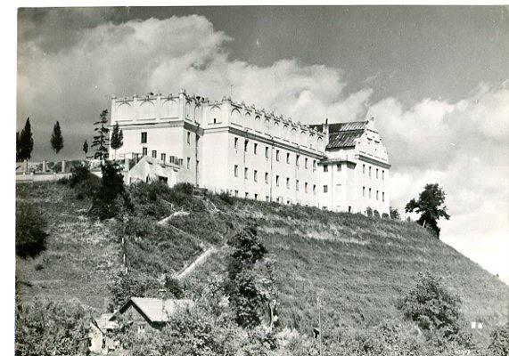 Sandomierz - Gastomianum ( obecnie liceum ogólnokształcące), około 1961, wyd. RUCH, fot. B. Malmurowicz