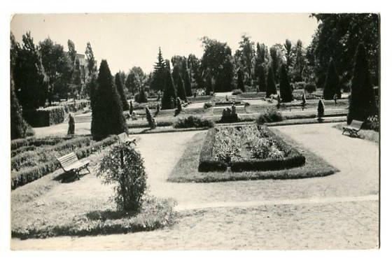 Park Miejski w Białymstoku, pocztówka fotograficzna, Wojskowa Agencja Fotograficzna, Warszawa, RUCH, c. 1953