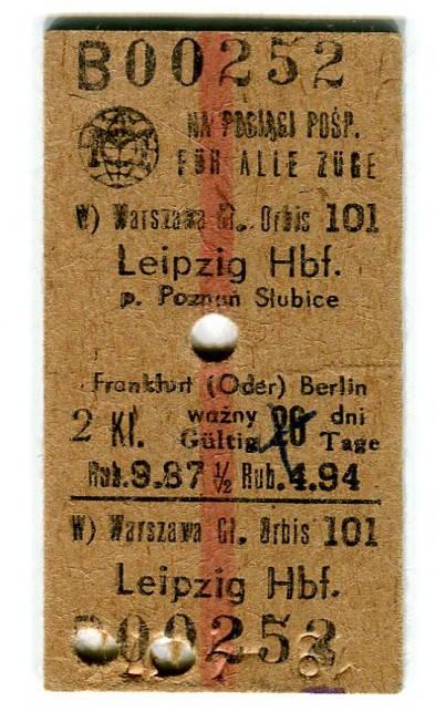 Bilecik do Lipska, z 19 kwietnia 1967