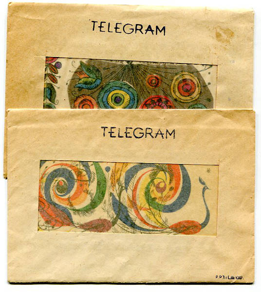 Telegramy z kopertami, rok 1964