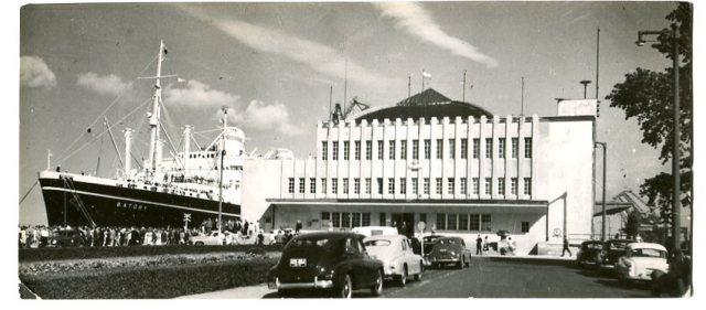 Gdynia, Statek Batory, pocztówka fotograficzna, 1965