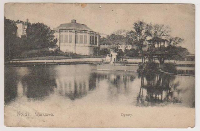 Wyścigi na Dynasach, Warszawa, stara pocztówka, fot. UVIS1905, delcampe.net