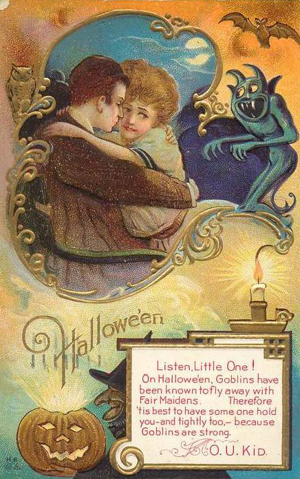 Vintage Old Halloween Postcards _  (12)