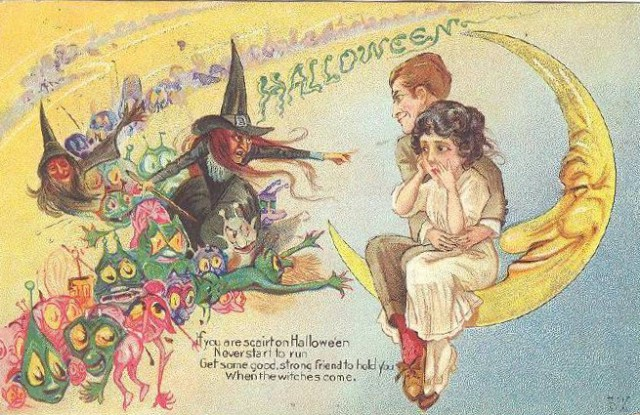 Vintage Old Halloween Postcards _  (13)