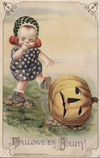 Vintage Old Halloween Postcards _  (15)