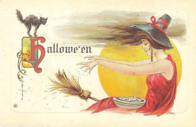 Vintage Old Halloween Postcards _  (19)