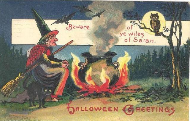 Vintage Old Halloween Postcards _  (2)