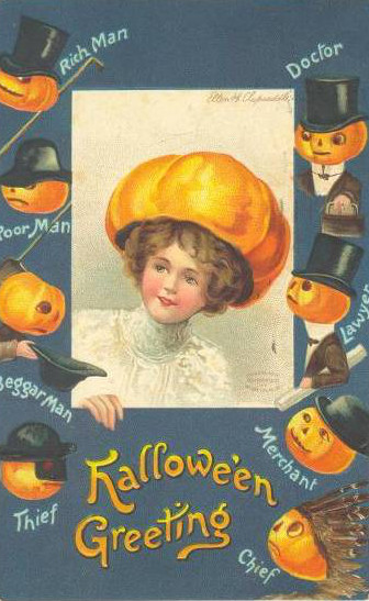 Vintage Old Halloween Postcards _  (3)