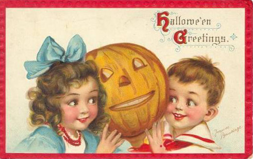 Vintage Old Halloween Postcards _  (6)