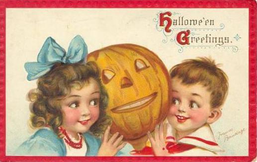 Vintage Old Halloween Postcards _  (6)