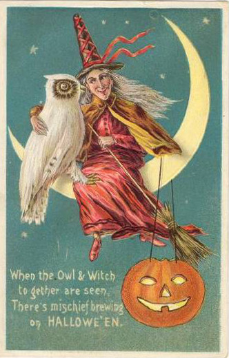 Vintage Old Halloween Postcards _  (7)