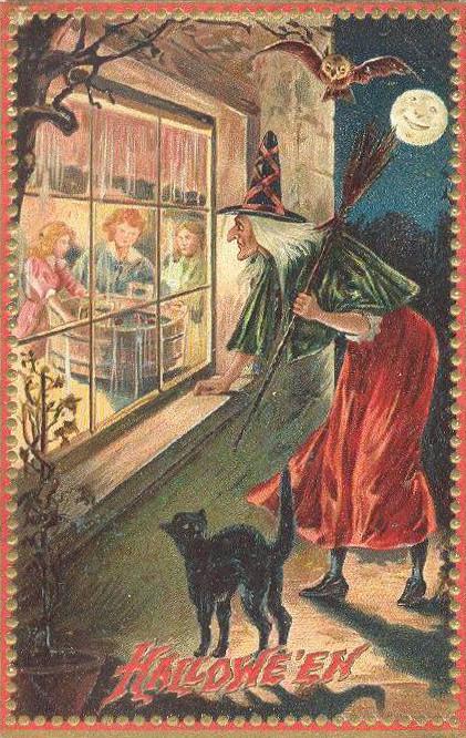 Vintage Old Halloween Postcards _  (8)