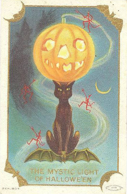 Vintage Old Halloween Postcards _  (9)