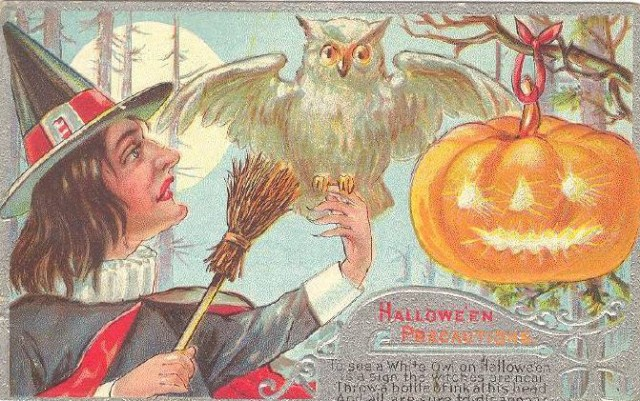 Vintage Old Halloween Postcards _