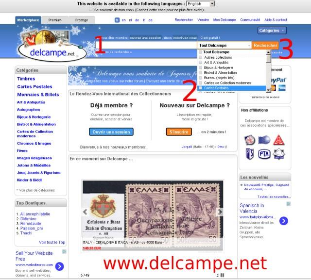 wchodzimy na stronę www.delcampe.net