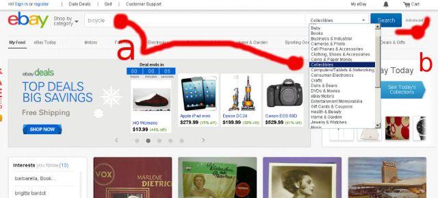 ebay.com - jak przeszukiwać historię aukcji zakończonych