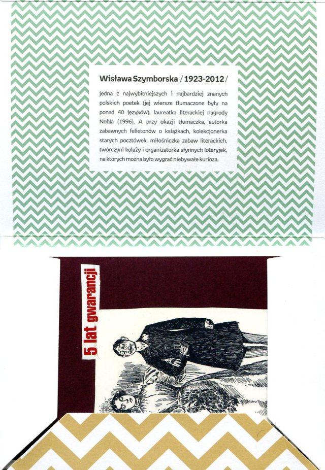 Pocztówkowe Wyklejanki Wisławy Szymborskiej -  reprodukcje wykonanych ręcznie przez poetkę kartek, wydane przy współpracy Empiku oraz Fundacji Wisławy Szymborskiej.