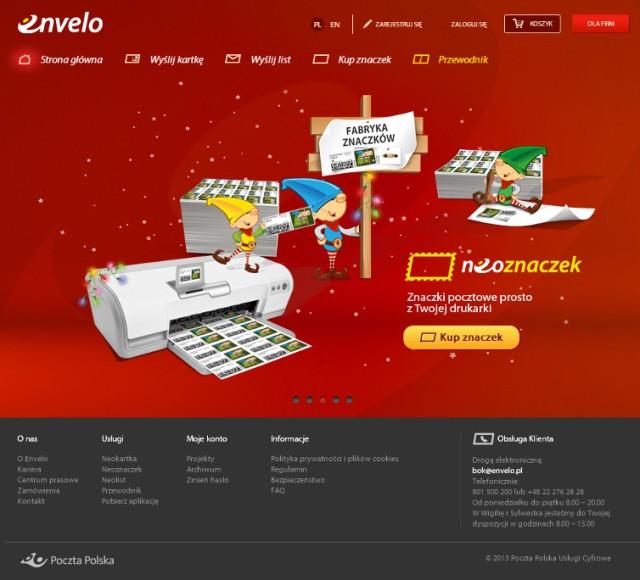 envelo.pl - nowa usługa PP -  sam wydrukuj znaczki na swojej drukarce, pocztówki wyślij prosto z Internetu - Poczta dostarczy je do na wskazany adres pocztowy