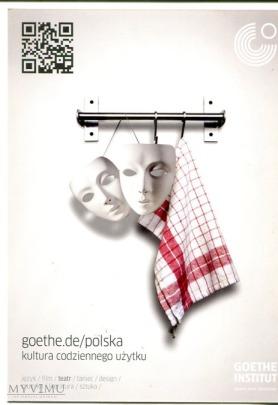 """""""kultura codziennego użytku"""" pocztówka wydana przez  Goethe Institut"""