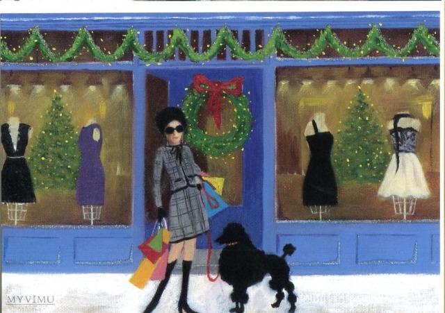 """Pocztówka z serii promocyjnej serii świątecznej zatytułwanej """"A Night before Christmas"""", autorka: Marie Korff, 2008"""