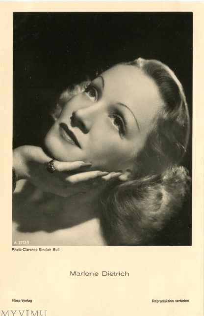 marlene dietrich on vintage postcards 5
