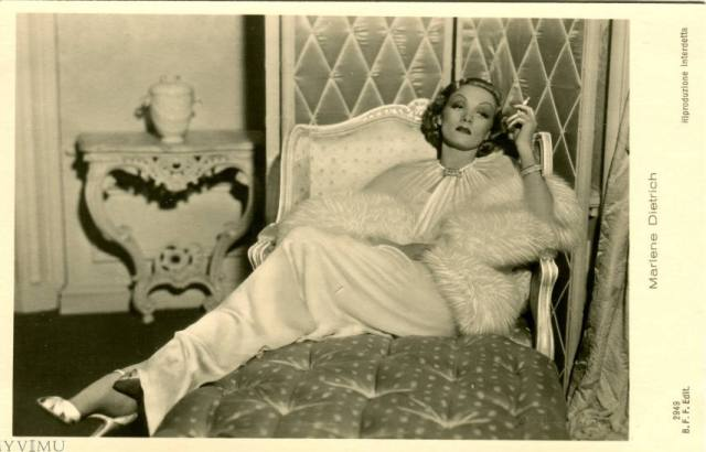 marlene dietrich on vintage postcards 9