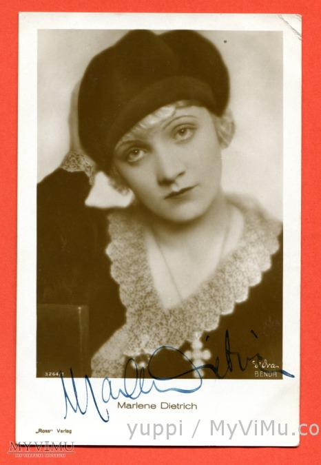 Marlene Dietrich stara pocztówka