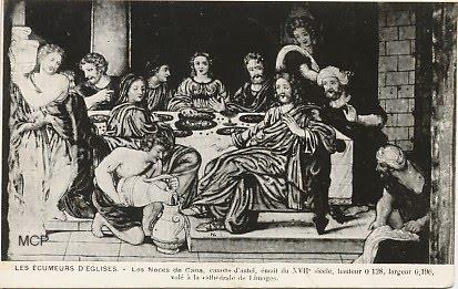 Pocztówka wydana celem odnalezienia tkaniny skradzionej z kościoła. (fot. museedelacartepostale)