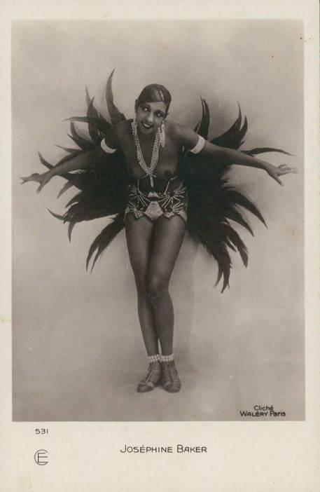 Josephine Baker, stara pocztówka przedwojenna