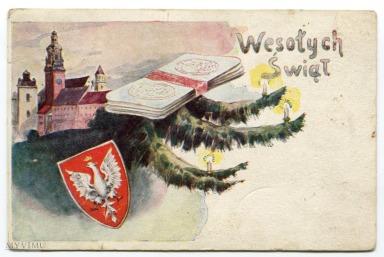pocztówka świąteczna z obiegu pocztowego, 1929