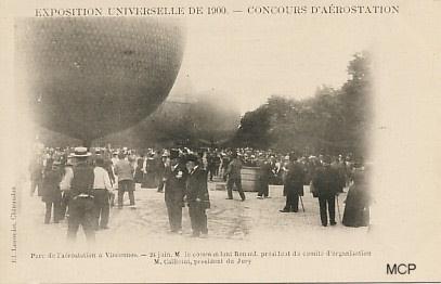 Zawody balonowe w Vincennes podczas Wystawy Światowej w roku 1900. (fot. museedelacartepostale)