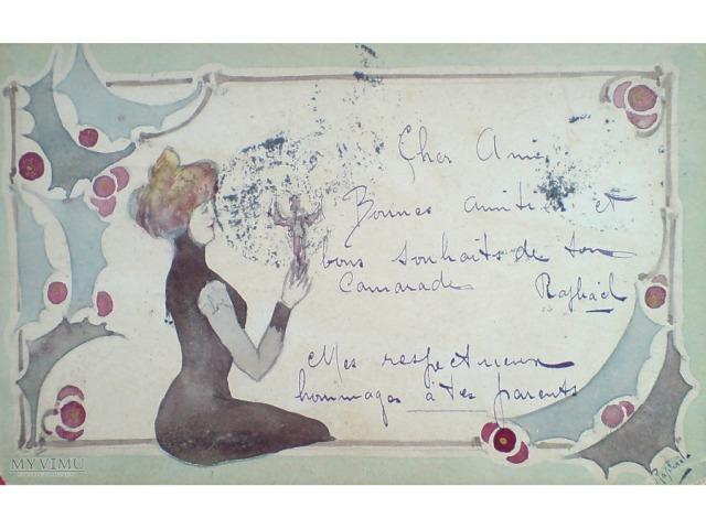 ręcznie malowa pocztówka a la Kirchner :) obieg 1905