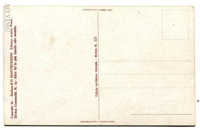 rewers pocztówki; Gerion, Domenico Mastroianni, wydanie własne artysty