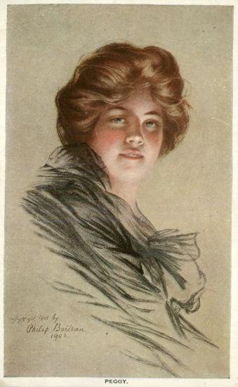 """""""Peggy"""" słynny portret żony wykonany przez Philipe'a Boileau."""