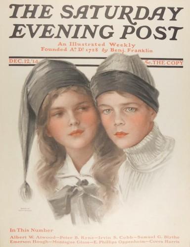 Jedna z okładek The Saturday Eveining Post; ilustracja jest także znana z pocztówek.