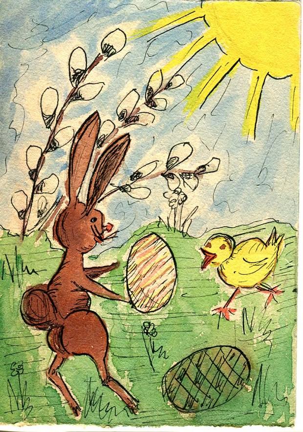 Wielkanocny Karnet z okresu PRL