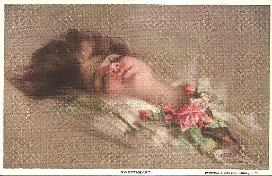 """""""Sweetheart"""" ulubiony portret artysty, przedstawiający jego późniejszą żonę - Emily"""